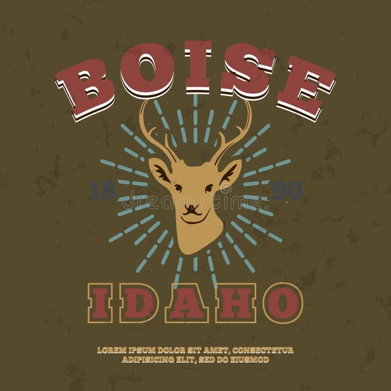 Boise, Idaho t-shirt grafische druk Vector vector illustratie