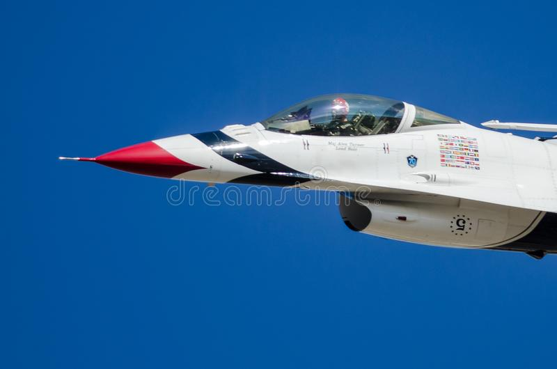Boise, Idaho, USA – October 15, 2017. United States Air Force Thunderbirds performing at the Gowen Thunder Airshow stock photography