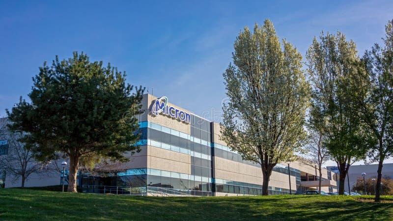 Boise, identificação, EUA - 25 de março de 2016: Tecnologia Boise do mícron com fl imagens de stock royalty free