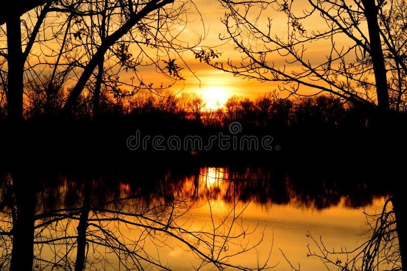Download Boise River Sunset 1 stock photo. Image of orange, thetinyphotographer - 100820796