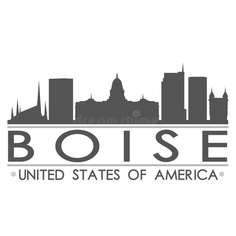 Boise Skyline Symbol Design City Vector Art royalty free illustration