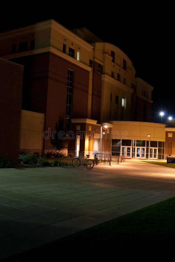 Boise State University. Night time photo of Boise State University campus building architecture royalty free stock photos