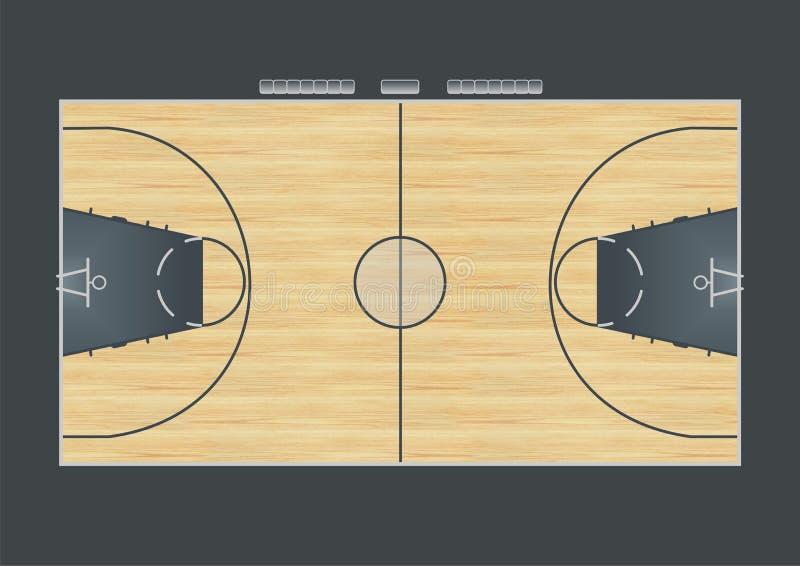 Boisko do koszykówki ilustracji