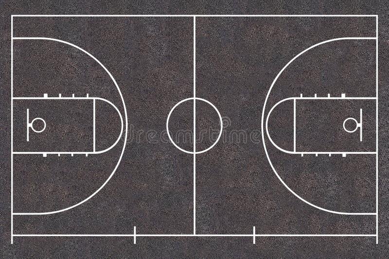Boisko do koszykówki royalty ilustracja