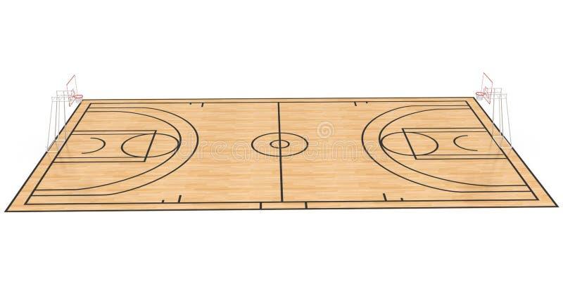 Boisko do koszykówki -2 ilustracja wektor