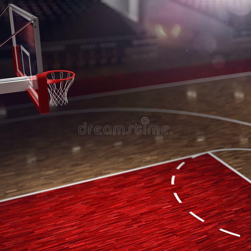 boisko do koszykówki jeżeli ilustracja stadion sportowy arena deszczu royalty ilustracja