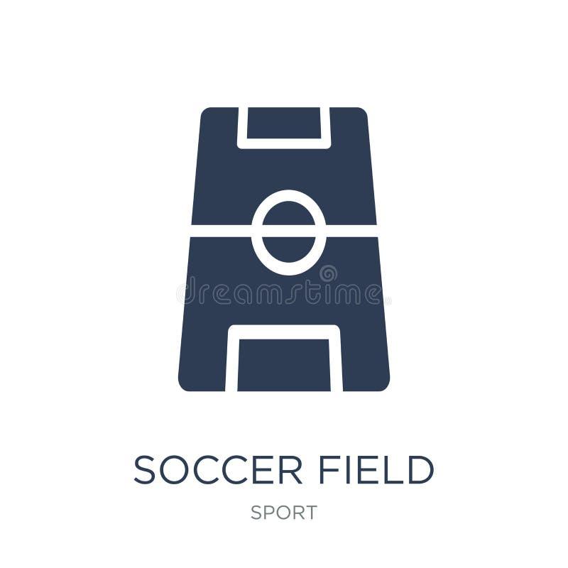 Boisko do piłki nożnej ikona Modna płaska wektorowa boisko do piłki nożnej ikona na bielu royalty ilustracja