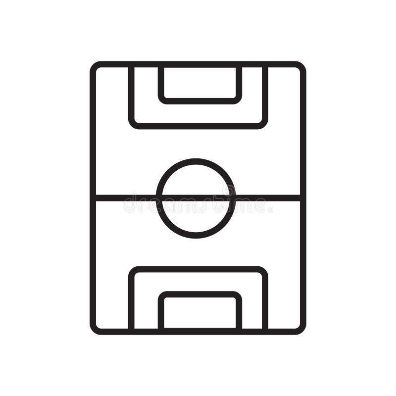 Boisko do piłki nożnej ikony wektor odizolowywający na białym tle, boisko do piłki nożnej znak, znak i symbole w cienkim liniowym ilustracja wektor