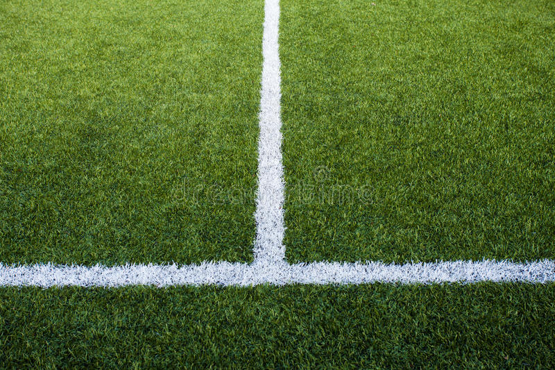 Boisko Do Piłki Nożnej Linie zdjęcia royalty free