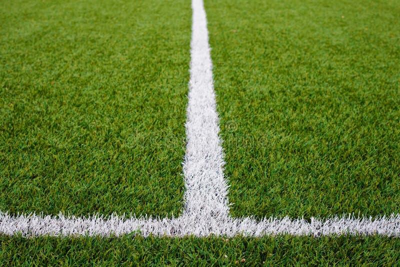 Boisko Do Piłki Nożnej linie zdjęcia stock