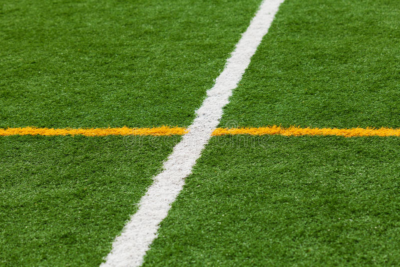 Boisko Do Piłki Nożnej linie zdjęcie royalty free