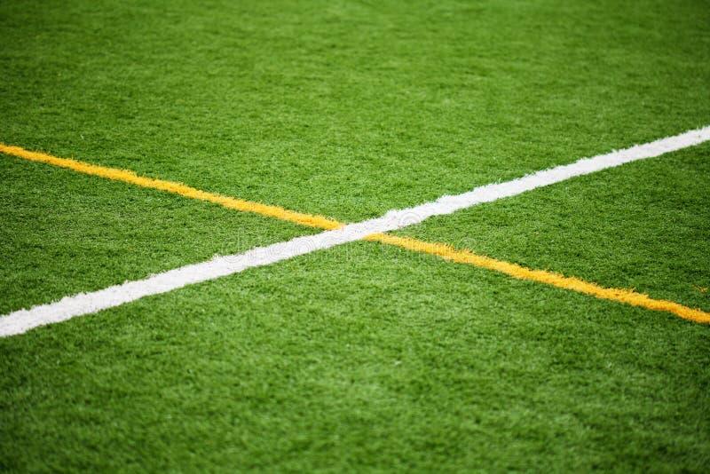 Boisko Do Piłki Nożnej linie zdjęcie stock