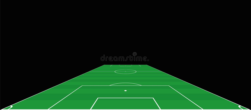 Boisko Do Piłki Nożnej Perspektywicznego widoku bramkarz ilustracja wektor
