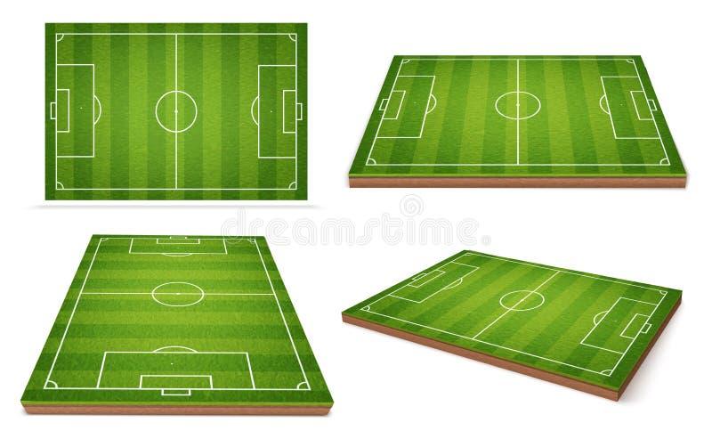 Boisko do piłki nożnej różne pozycje royalty ilustracja
