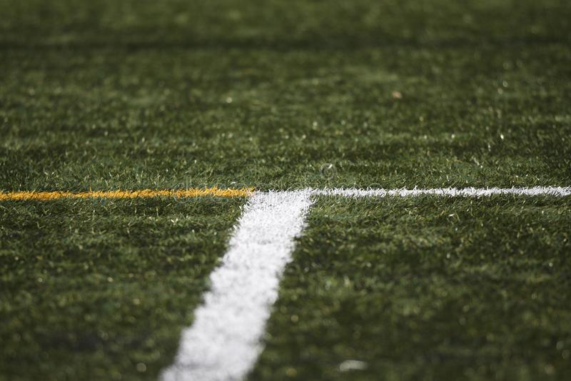 Boisko do piłki nożnej ` s linie obrazy royalty free