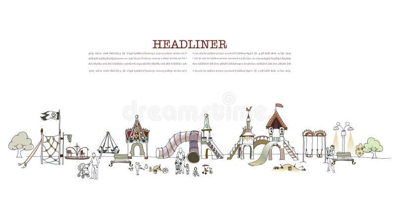 Boisko ilustracja, miasto kolekcja royalty ilustracja
