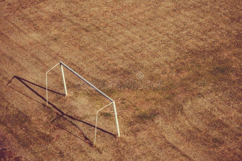 Boisko piłkarskie i brama obraz stock