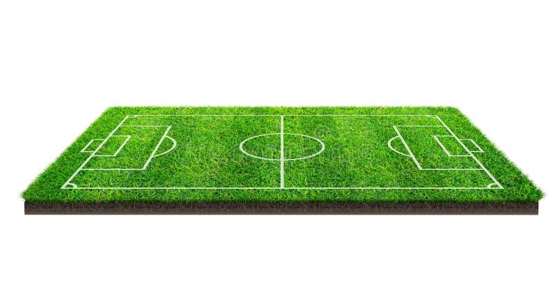 Boisko piłkarskie lub boisko do piłki nożnej na zielonej trawy wzoru teksturze odizolowywającej na białym tle z ścinek ścieżką mi ilustracji