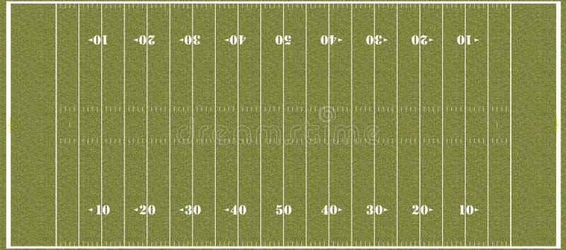 Boisko piłkarskie - przepisowi NFL hashmarks royalty ilustracja