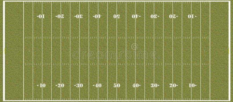 Boisko piłkarskie - przepisowi szkół wyższa hashmarks royalty ilustracja