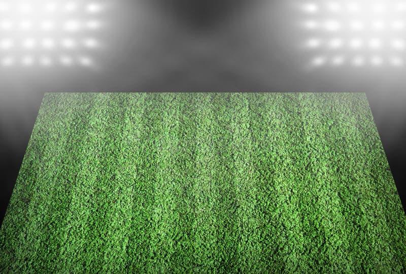 Boisko piłkarskie w światłach reflektorów zdjęcie royalty free