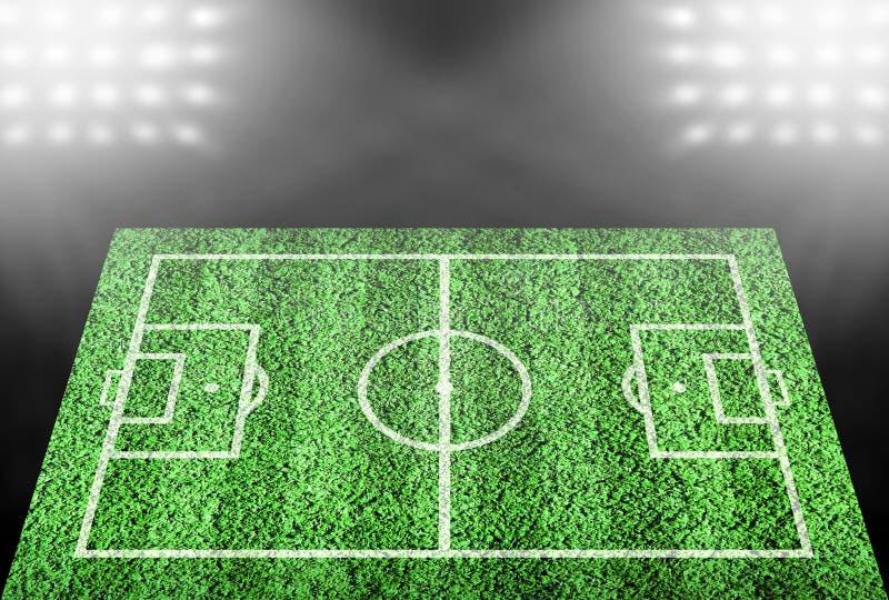 Boisko piłkarskie w światłach reflektorów zdjęcia royalty free