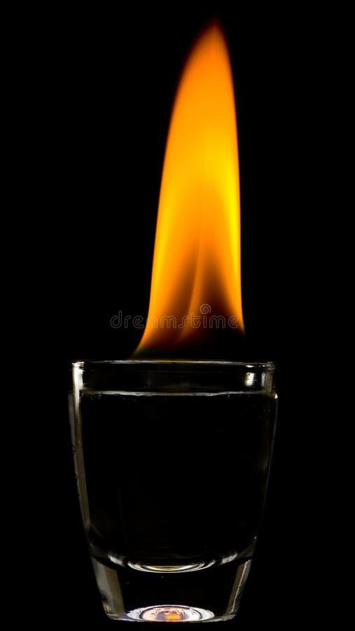 boisson alcoolisée d'incendie image stock