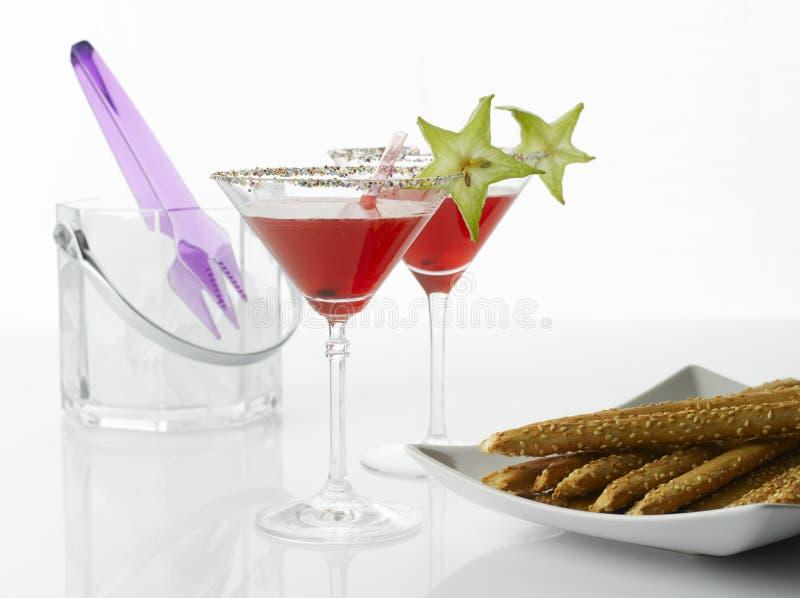 Boisson cosmopolite de cocktail photographie stock libre de droits