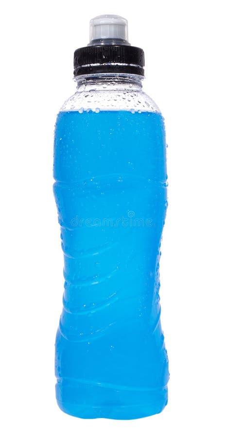 Boisson d'énergie dans la bouteille en plastique humide image stock