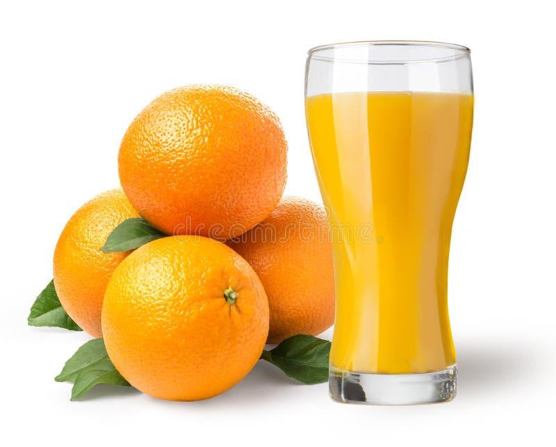 Boisson d'isolement Glace de jus d'orange image stock