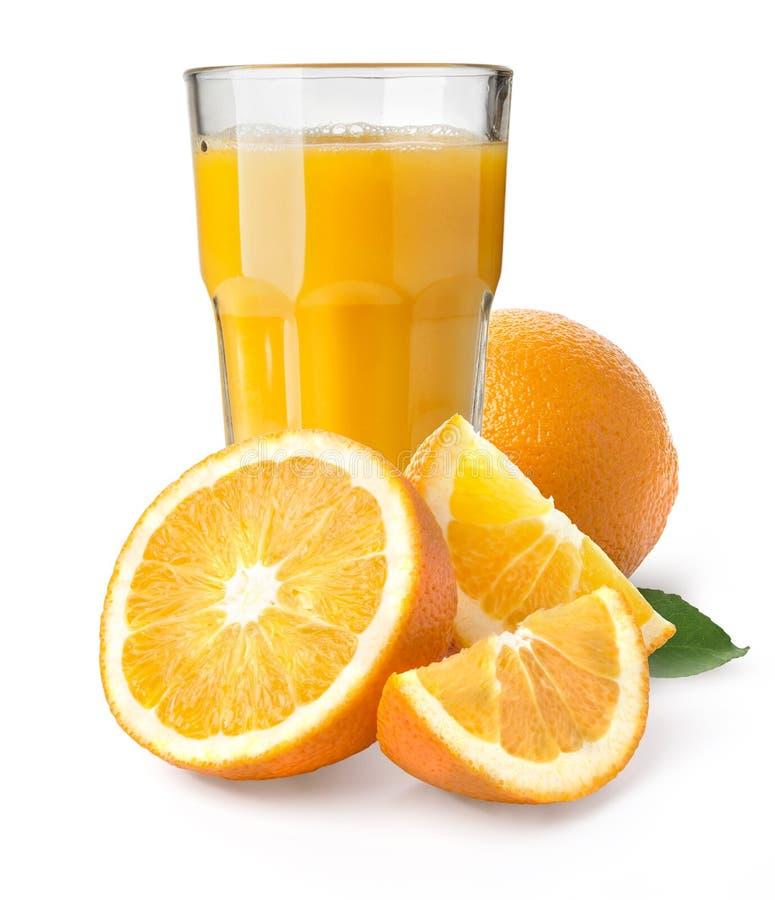Boisson d'isolement Glace de jus d'orange photographie stock