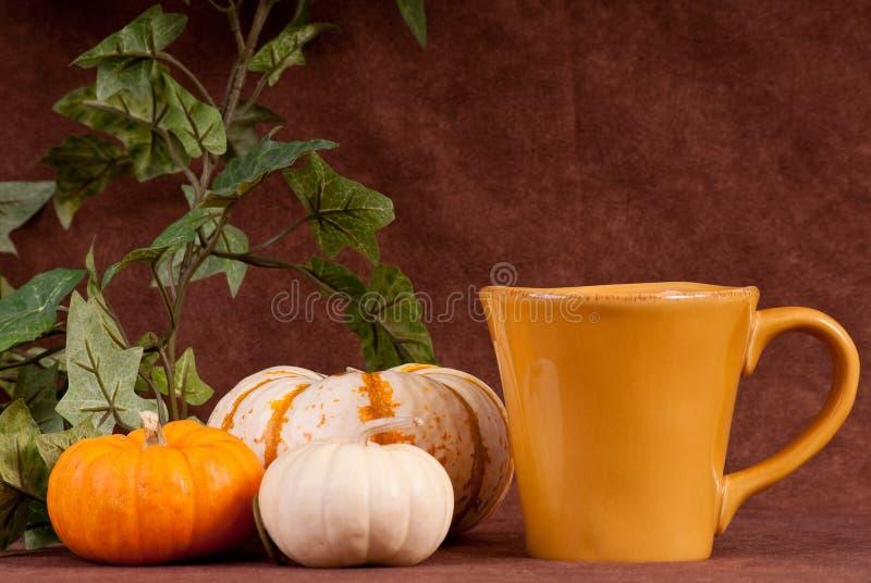 Boisson de café assaisonnée par potiron photo libre de droits
