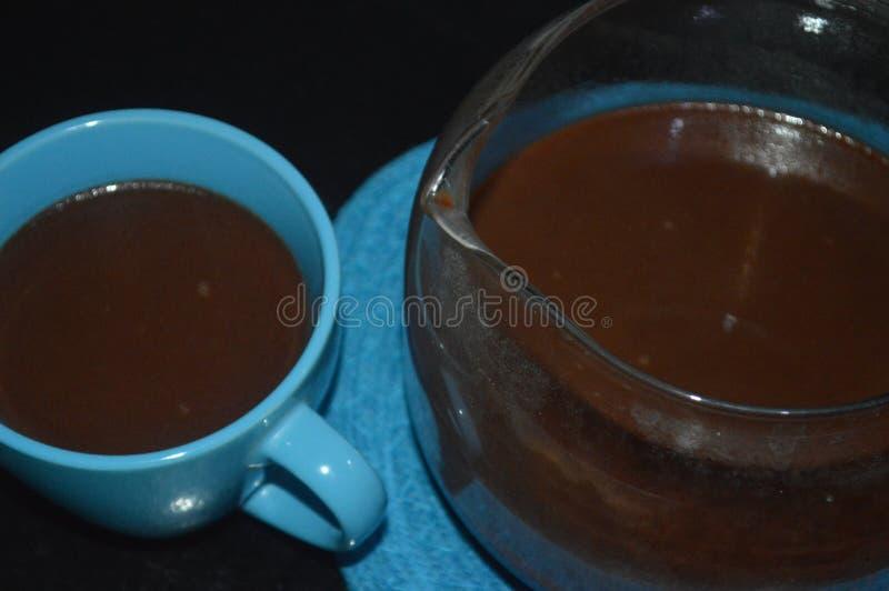 Boisson de chocolat chaud pendant le Noël photos stock