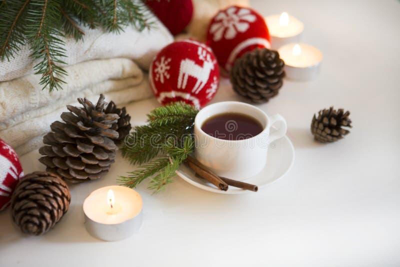 Boisson de fond de Noël images stock