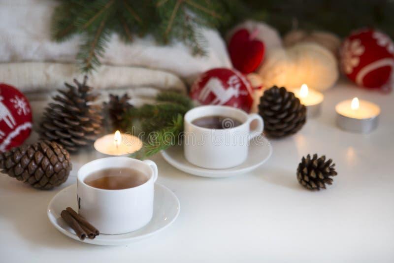 Boisson de fond de Noël image stock