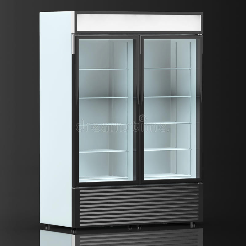 boisson de r frig rateur avec la porte en verre image stock image du isolement caf 53332021. Black Bedroom Furniture Sets. Home Design Ideas