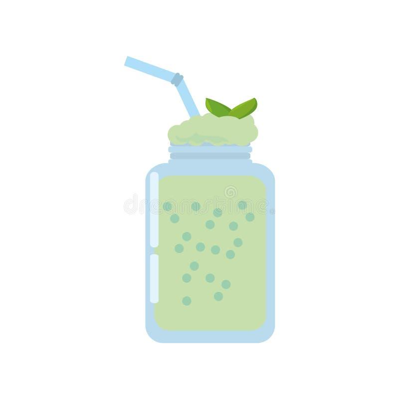 boisson fraîche en bon état de smoothie illustration stock