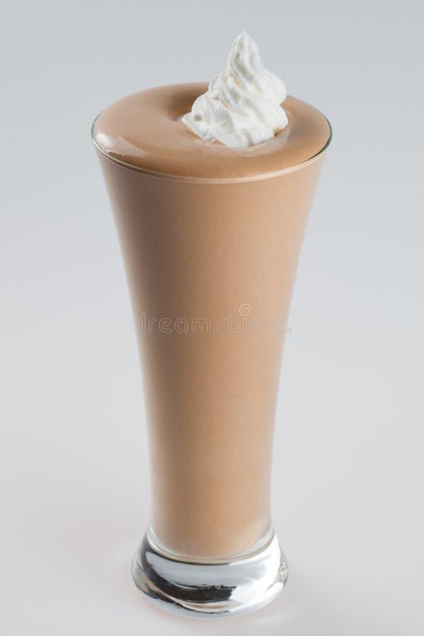 Boisson glacée de milk-shake de café de chocolat image stock
