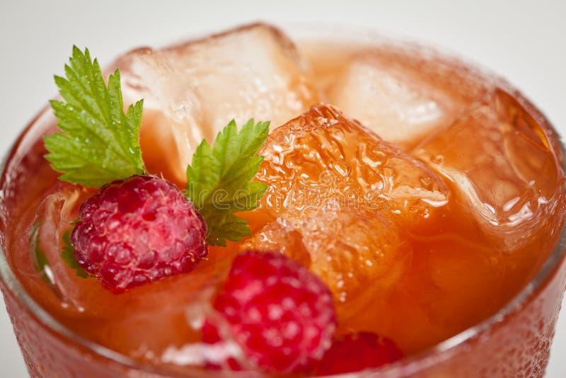 Boisson glacée par froid avec le détail de fruits photo libre de droits