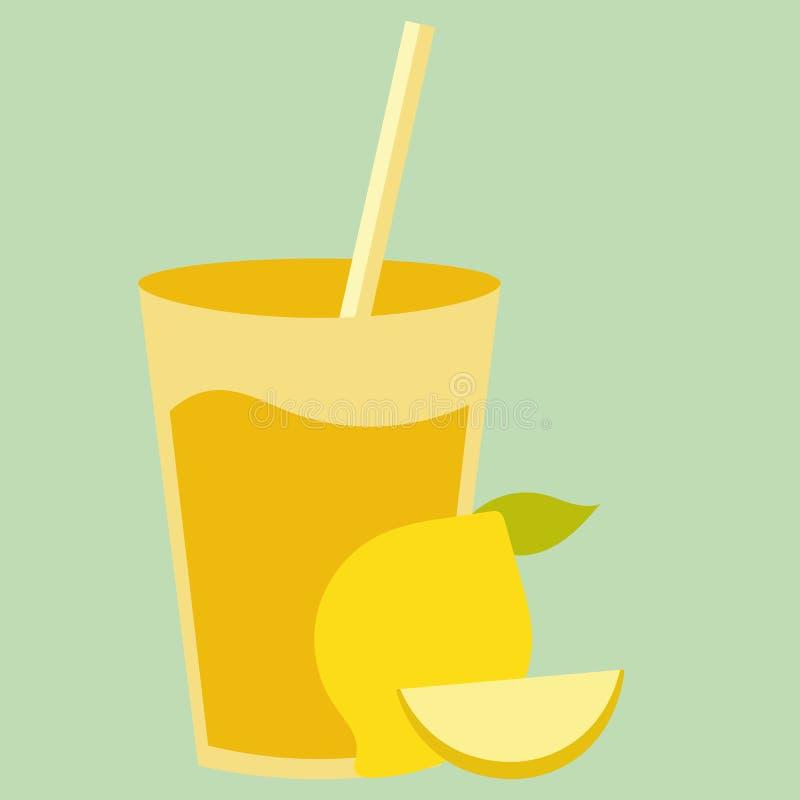 Boisson naturelle saine de cocktail avec le citron jaune doux Smoothie organique frais d'agrume illustration stock
