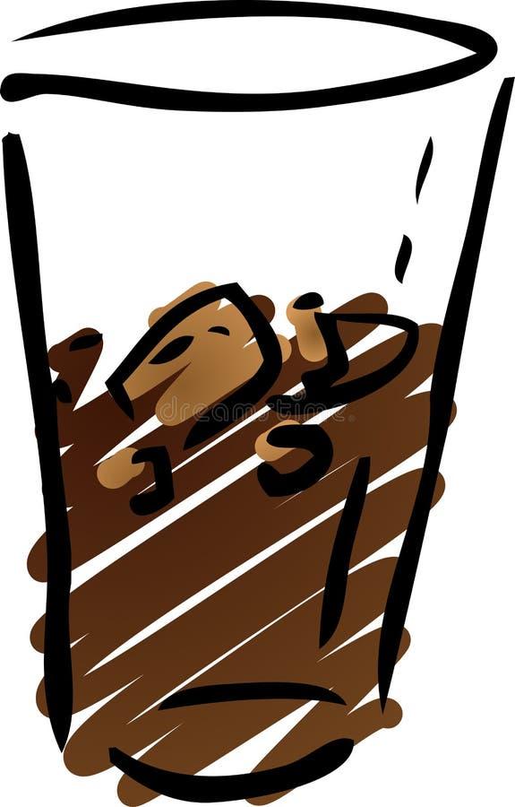 Boisson non alcoolique de kola illustration libre de droits