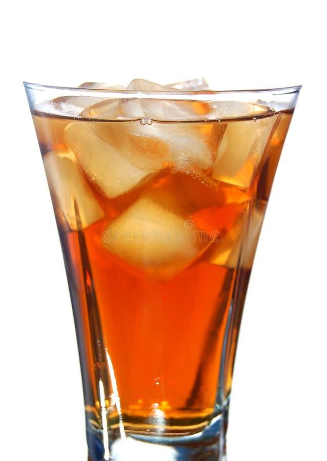 Boisson non alcoolique remplie par glace image libre de droits