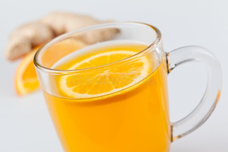 Boisson orange chaude de gingembre images libres de droits