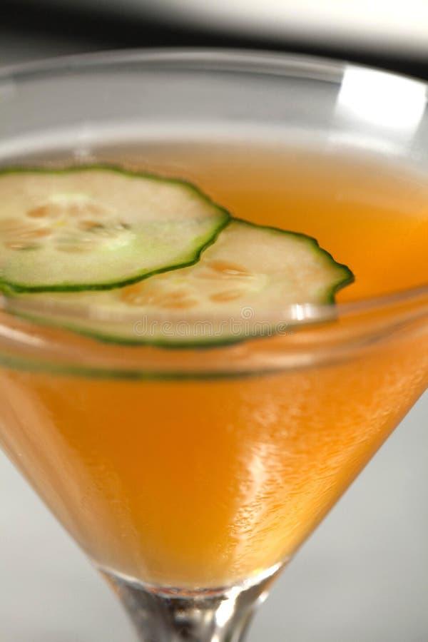 Boisson orange du Cura?ao de concombre photos libres de droits
