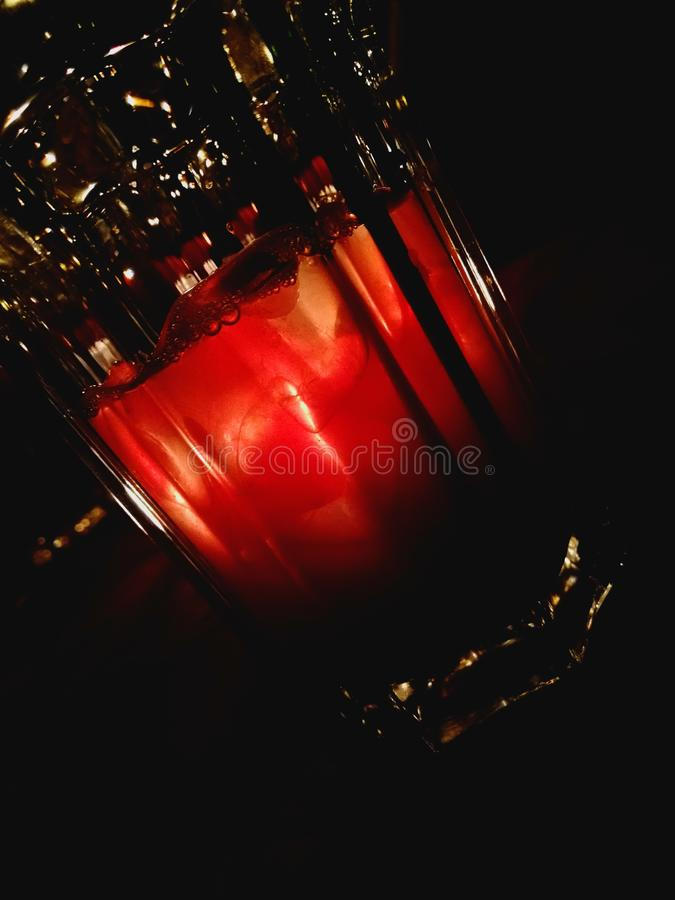 Boisson rouge image stock