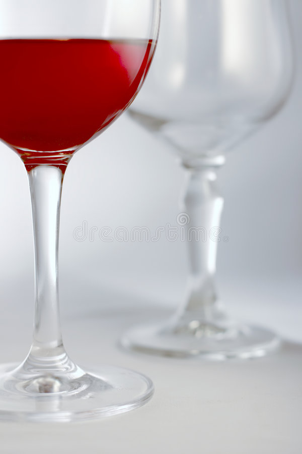 Boisson rouge en glace photo stock