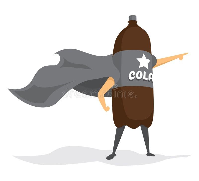 Boisson superbe de héros de kola illustration stock
