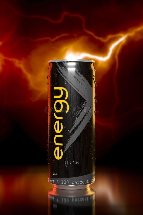 boisson typique d'énergie illustration stock
