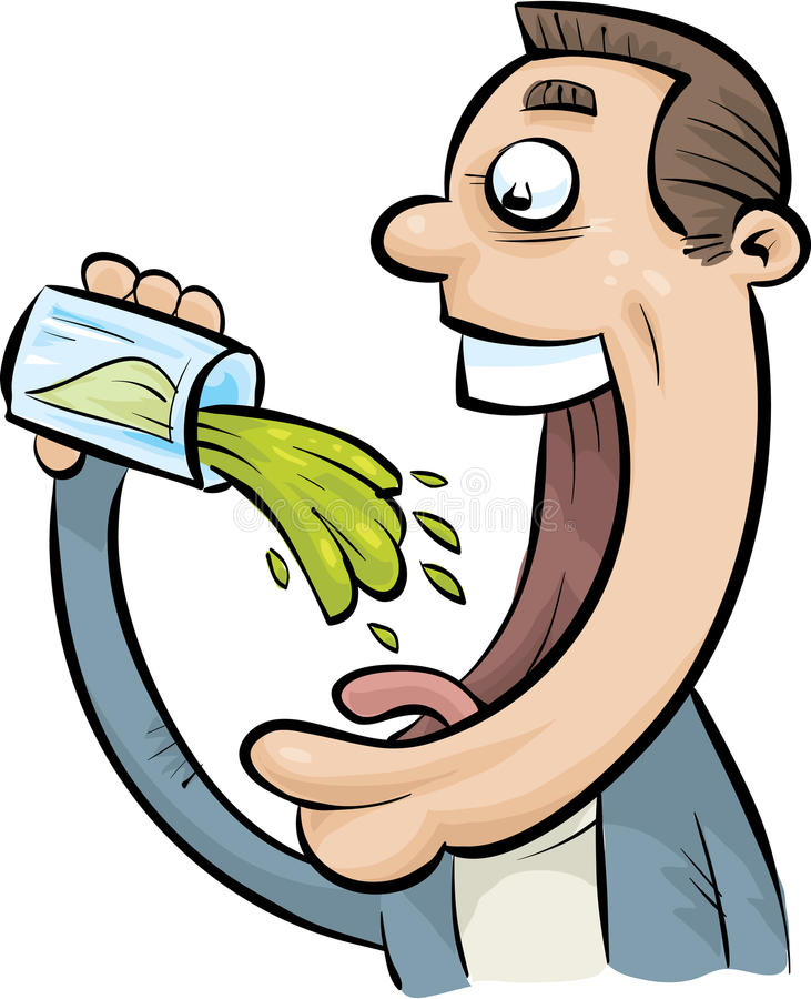 Boisson verte illustration de vecteur