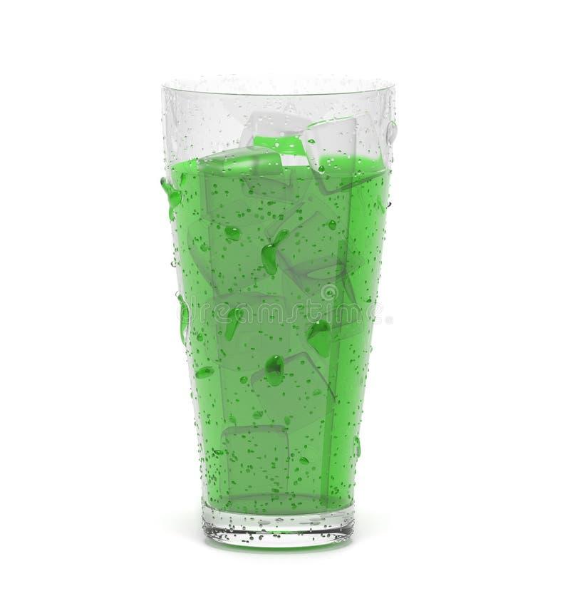 Boisson verte avec de la glace illustration du rendu 3d d'isolement illustration libre de droits